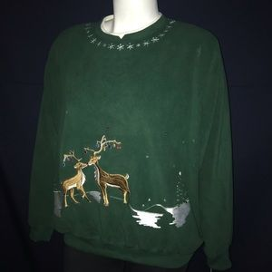 Alfred Dunner Holiday Fleece Sweater